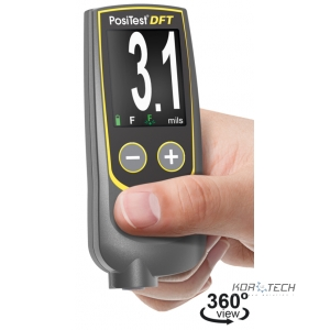 PosiTest DFT Coating Thickness Gage measures coatings on all metals, Ferrous